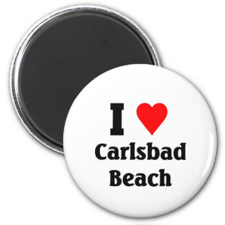 I love Carlsbad Beach 2 Inch Round Magnet