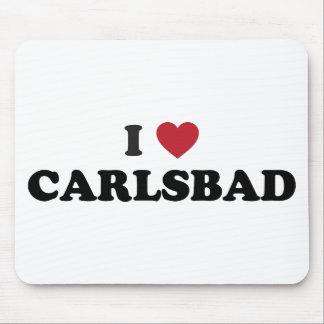 I Love Carlsbad California Mouse Pad