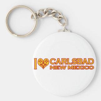 I Love Carlsbad, NM Keychain