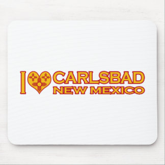 I Love Carlsbad, NM Mouse Pad