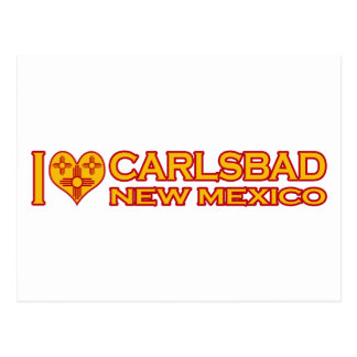 I Love Carlsbad, NM Postcard