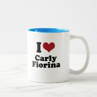 I Love Carly Fiorina for President Two-Tone Coffee Mug
