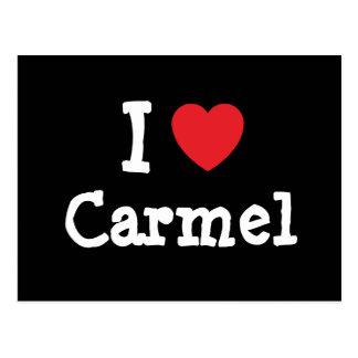 I love Carmel heart T-Shirt Post Card