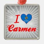 I Love Carmen, Oklahoma Christmas Ornaments