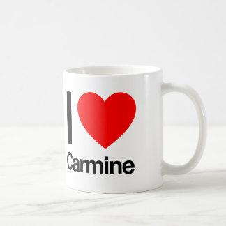 i love carmine coffee mug