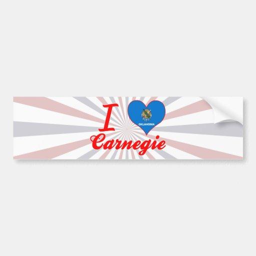 I Love Carnegie, Oklahoma Bumper Stickers