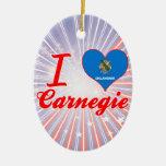 I Love Carnegie, Oklahoma Christmas Tree Ornaments