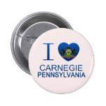 I Love Carnegie, PA Buttons