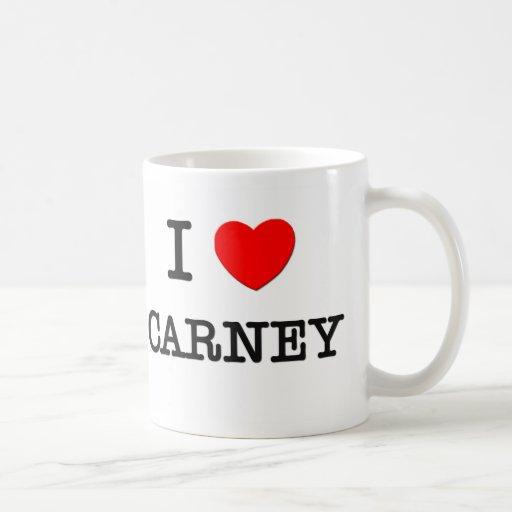 I Love Carney Mugs