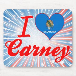 I Love Carney Oklahoma Mouse Pads