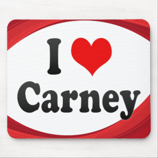 I Love Carney United States Mouse Pad