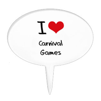 I love Carnival Games Cake Toppers