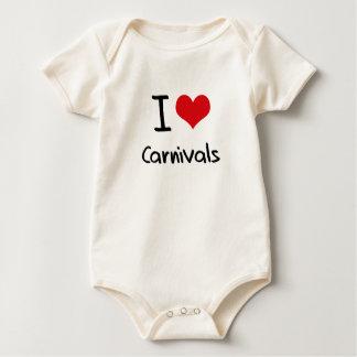 I love Carnivals Baby Bodysuit