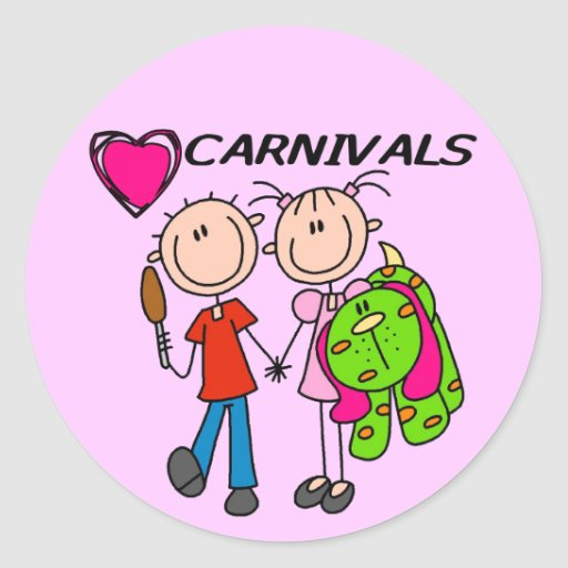 I Love Carnivals Tshirts and Gifts Classic Round Sticker