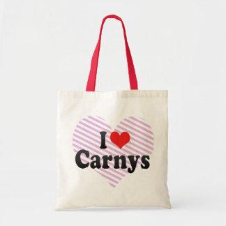 I Love Carnys Budget Tote Bag
