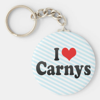 I Love Carnys Basic Round Button Keychain