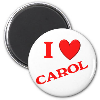 I Love Carol Magnets
