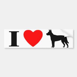 I Love Carolina Dogs Bumper Sticker