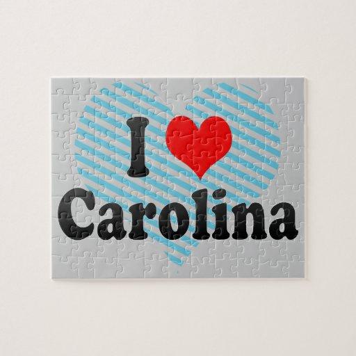 I Love Carolina, Puerto Rico Jigsaw Puzzles