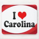 I Love Carolina, Puerto Rico Mousepad