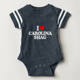 I LOVE CAROLINA SHAG BABY BODYSUIT