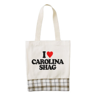 I LOVE CAROLINA SHAG ZAZZLE HEART TOTE BAG