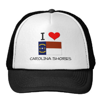 I Love Carolina Shores North Carolina Trucker Hat