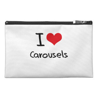 I love Carousels Travel Accessory Bag