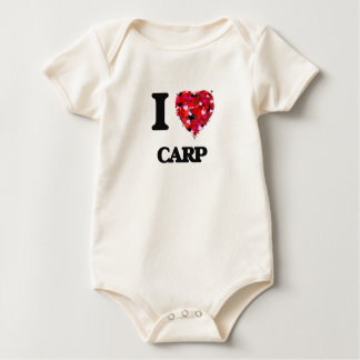 I love Carp Baby Bodysuit