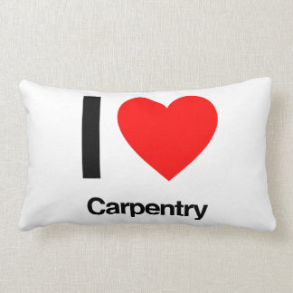 i love carpentry throw pillow