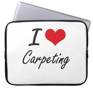 I love Carpeting Artistic Design Laptop Sleeve