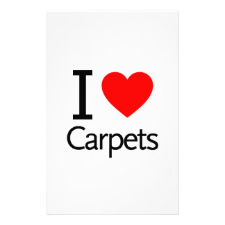 I Love Carpets Personalized Stationery