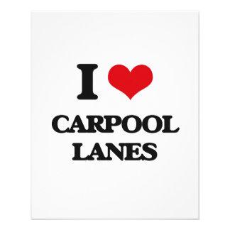 I Love Carpool Lanes Personalized Flyer