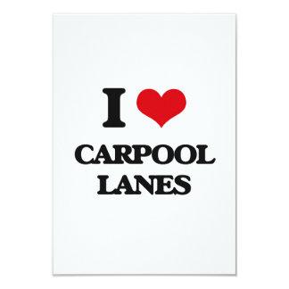 I Love Carpool Lanes 3.5x5 Paper Invitation Card