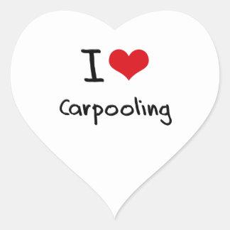 I love Carpooling Heart Sticker