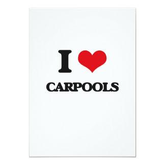 I love Carpools 5x7 Paper Invitation Card