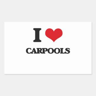 I love Carpools Rectangular Sticker