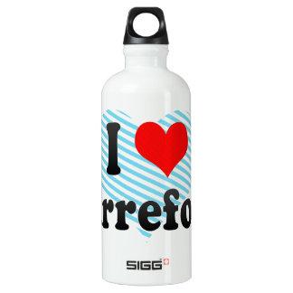 I Love Carrefour, Haiti Aluminum Water Bottle
