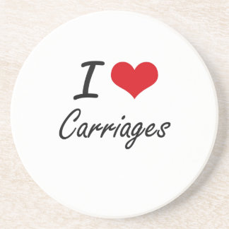 I love Carriages Artistic Design Drink Coasters