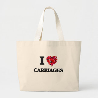 I love Carriages Jumbo Tote Bag