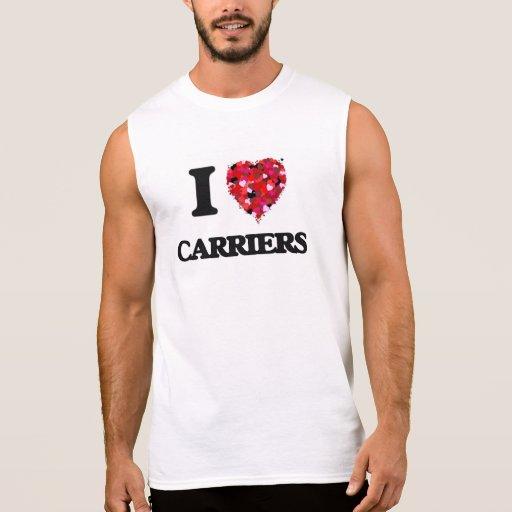 I love Carriers Sleeveless T-shirts Tank Tops, Tanktops Shirts