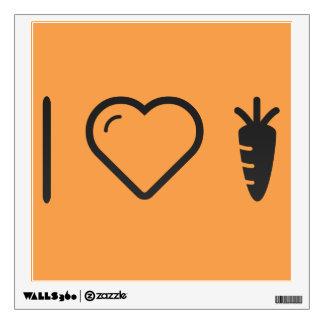 I Love Carrot Salad Wall Graphics