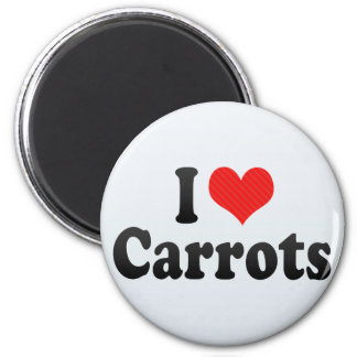 I Love Carrots 2 Inch Round Magnet