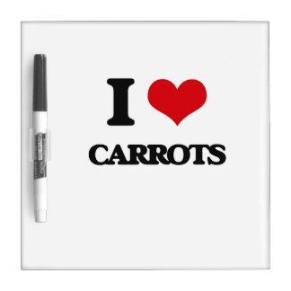 I love Carrots Dry-Erase Board
