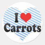I Love Carrots Sticker