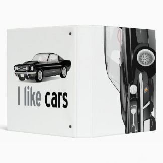 I love cars binder
