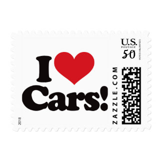 I Love Cars! Postage