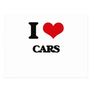 I love Cars Postcards