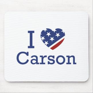 I Love Carson Mouse Pad