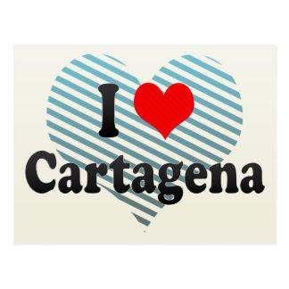 I Love Cartagena, Colombia Postcard